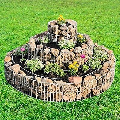 TronicXL – Gavión de 3 Anillas de Metal Trenzado para muros, Valla de jardín, Valla de Piedra, Valla de Alambre, gavión, Cesta, Cesta, Cesta, Cesta de Piedra: Amazon.es: Jardín