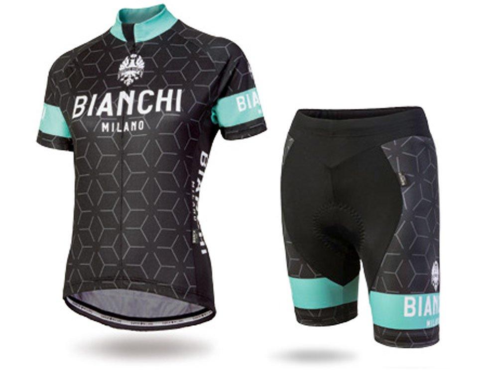 BIANCHI(ビアンキ) APPAREL ミラノ NEVOLA+NOCITO レディースセットアップ(ジャージ&ショーツ)ブラック Small  B077963JL6