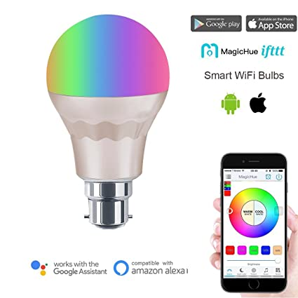 Bombillas LED inteligentes e inalámbricas Magic Hue, para B22 y E27, dorado