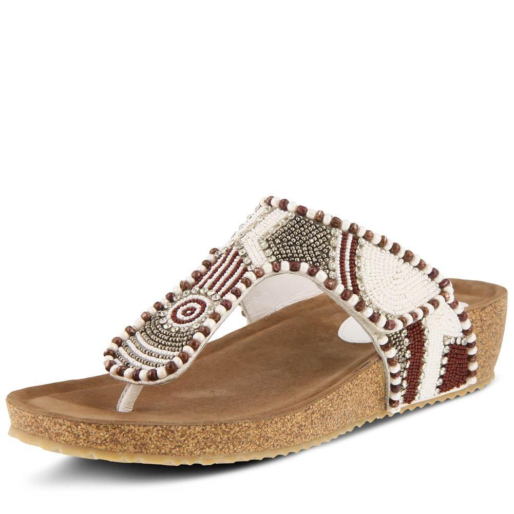 AZURA Women's Style Lachlana Leather Wedge Slide Sandal B07B5TMFWH Wedge Leather 26b4f3