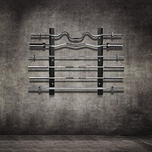 Ollieroo Olympic Barbell Rack Bar Storage Horizontal Wall