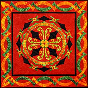 Amazon Com Happy Stash Quilts Rosemaling Traditions Quilt