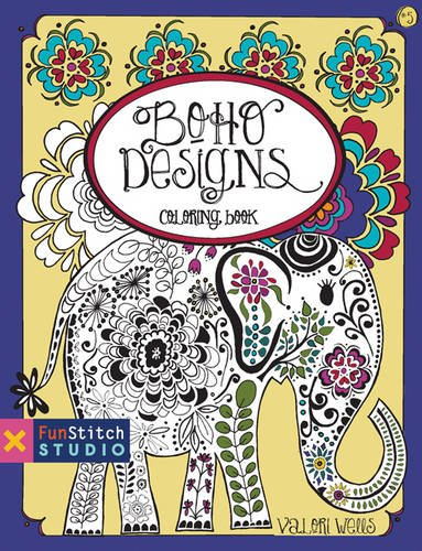 Boho Designs Coloring Book (Fun Stitch Studio Coloring (Boho Designs)