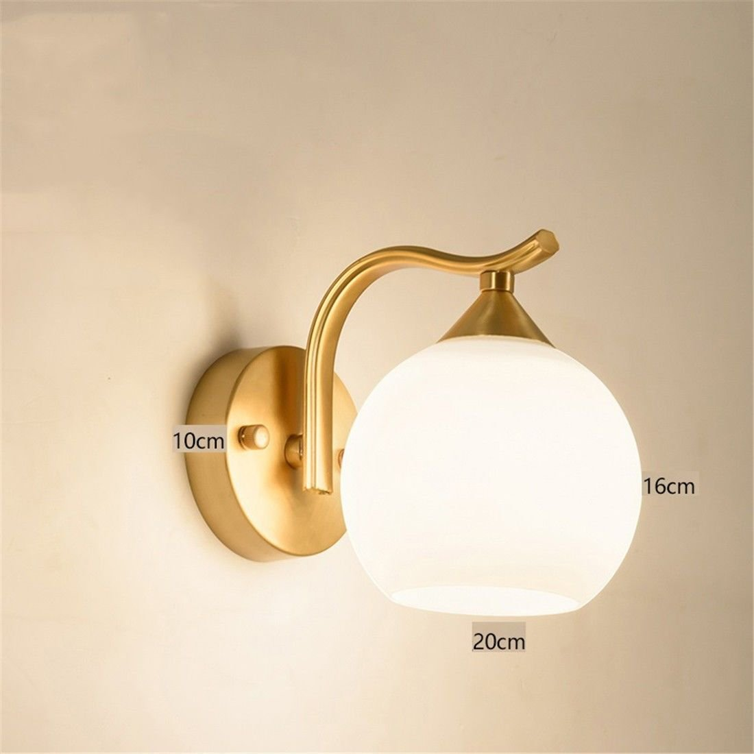 Industrial Vintage Wall Sconces The Head of The Bed Brass Wall Lights  Antique Wall Lamps Hotel Room corridors Hyun Off The Road Wall lamp - -  Amazon.com