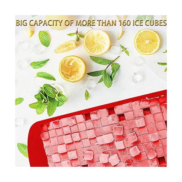 JEZOMONY Mini Vassoi per Cubetti di Ghiaccio in Silicone , 160 Vassoi per Cubetti di Ghiaccio , Stampo per Ghiaccio e… 3 spesavip