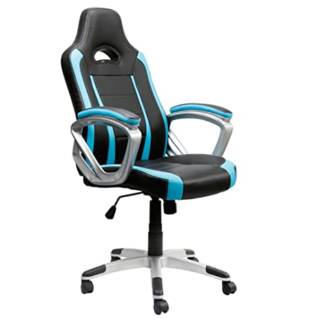 EAMBRITE Gaming Chair Swivel Racing Style Task Chair Ergonomic High Back Computer  Chair Leather Office