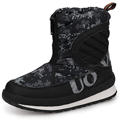 c65564aab58d UOVO Boys Snow Boots Boys Winter Boots for Kids Waterproof Winter Shoes for  Cold Weather Slip