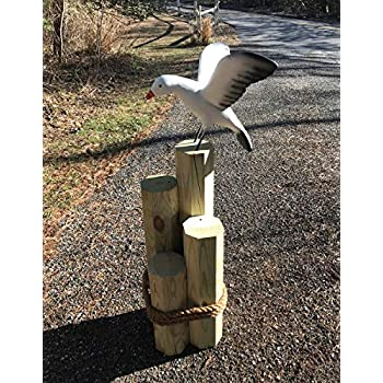 Chesapeakecrafts Life Size Landing Seagull for Outdoor Displays - Large Weatherproof Seagull Replica is Made of Durable Resin and Hand Painted.
