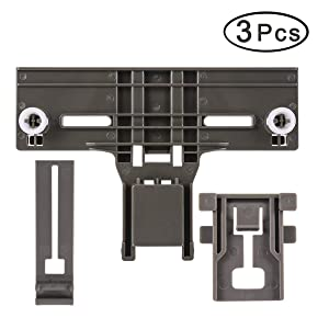 [Upgraded] W10350376 Dishwasher Upper Rack Height Adjuster & W10195839 Dishrack Adjuster & W10195840 Adjuster Arm Positioner Clip, Replaces for Kenmore Dishwasher Parts W10350376WP,W10712394 (3 Pack)