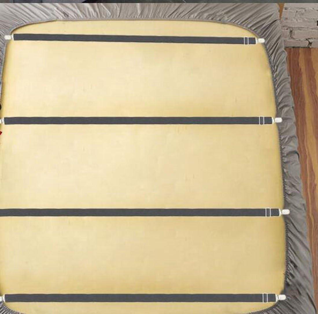 Lenzuolo di 50/cm di 200/cm BDJ01 Dotato di Fermo Materasso Glield Regolabile Letto Panno e con Ganci in Metallo sotto Divano 4/Pezzi