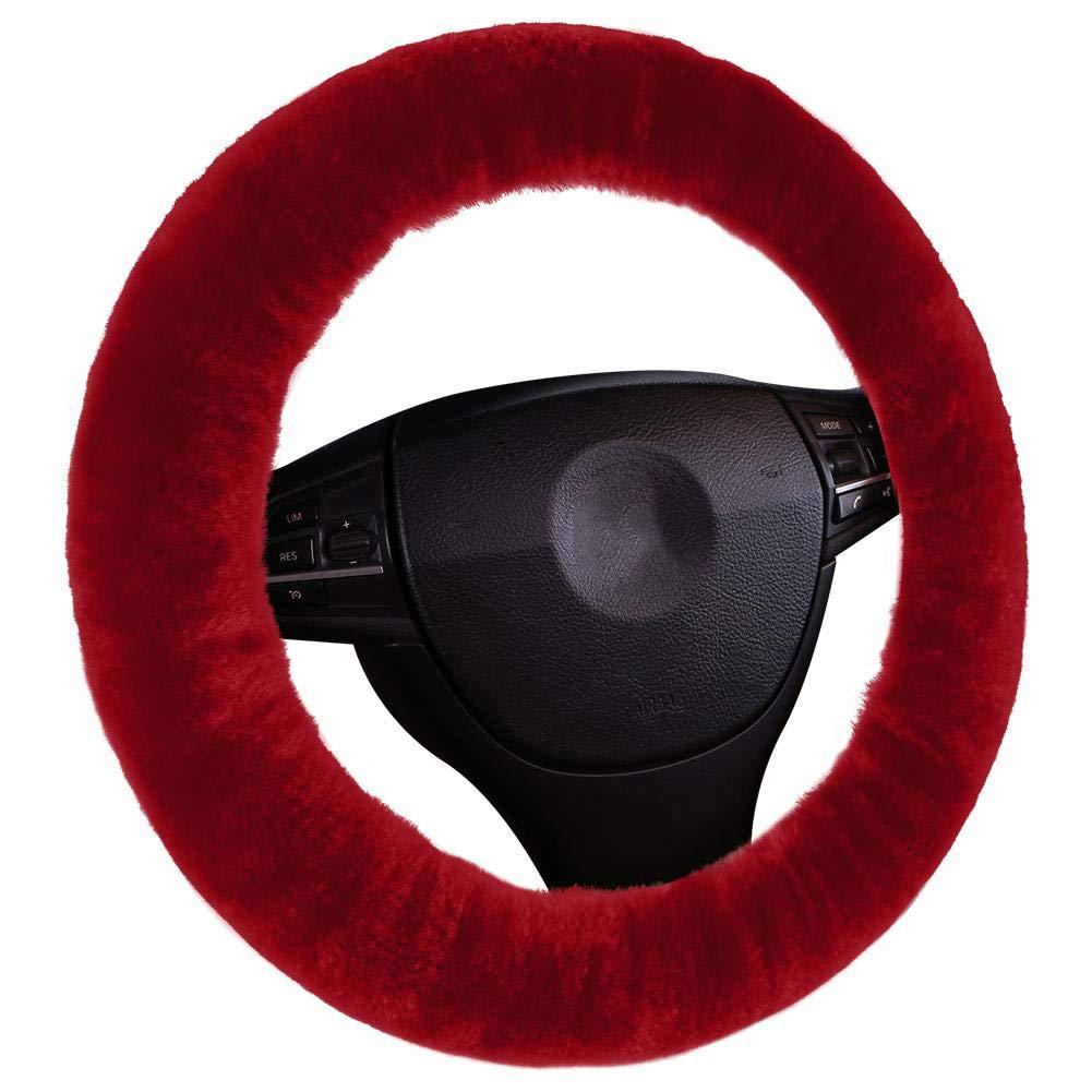 noir mikolotuk couverture de volant de voiture Housse de volant de voiture en laine anti-d/érapant protecteur de roue