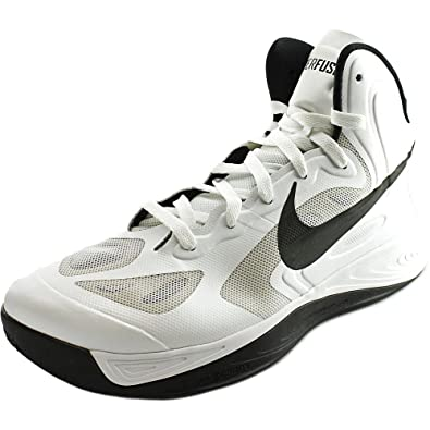 72c65b3cee5 Nike HYPERFUSE TB Men s Basketball Shoes 525019 100 (9.5) White Black