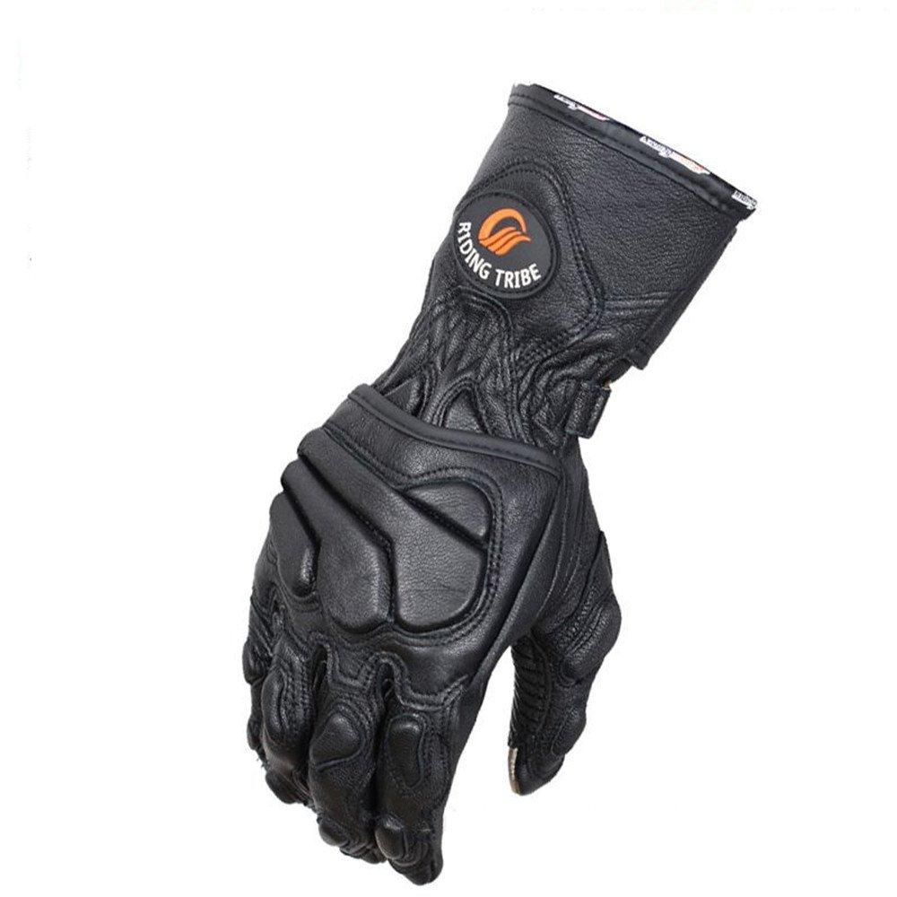 快適 レザーオートバイの手袋 男性騎士冬暖かい厚手手袋タッチスクリーンオートバイ手袋 (サイズ : XL) X-Large  B07FSM42ZB