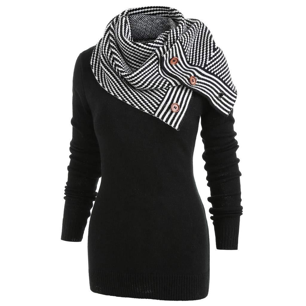 OMMR-Clearance Cowl Neck Womens Long Sleeve Blouse Hoodie Pullover Sweatshirt Overcoat