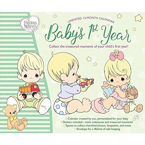 Babys 1st Yr Precious Moments Wall Calendar - Baby Wall Calendar