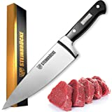 STEINBRÜCKE Chef Knife 6 inch - Pro Kitchen Knife Forged from German Stainless Steel 8Cr15Mov (HRC58), Full Tang, Ultra…