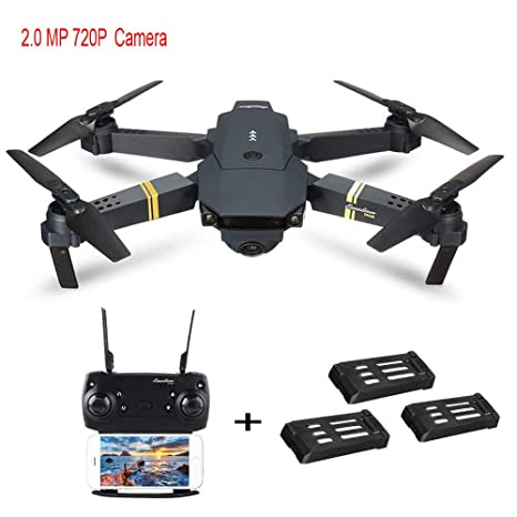 Amazon com: DICPOLIA E58 2MP w/ 720P Camera WiFi FPV Foldable Selfie