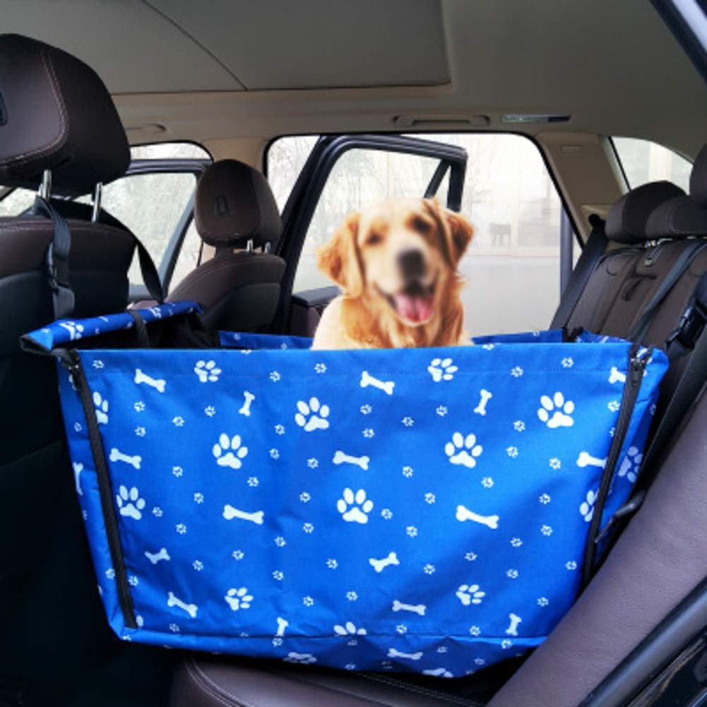 bluee Pet Back seat Covers Single,Waterproof Padded Dog car seat Cover Heavy Duty Anti-Dirty Pet seat Covers Pad for Dogs Backseat Predection-bluee