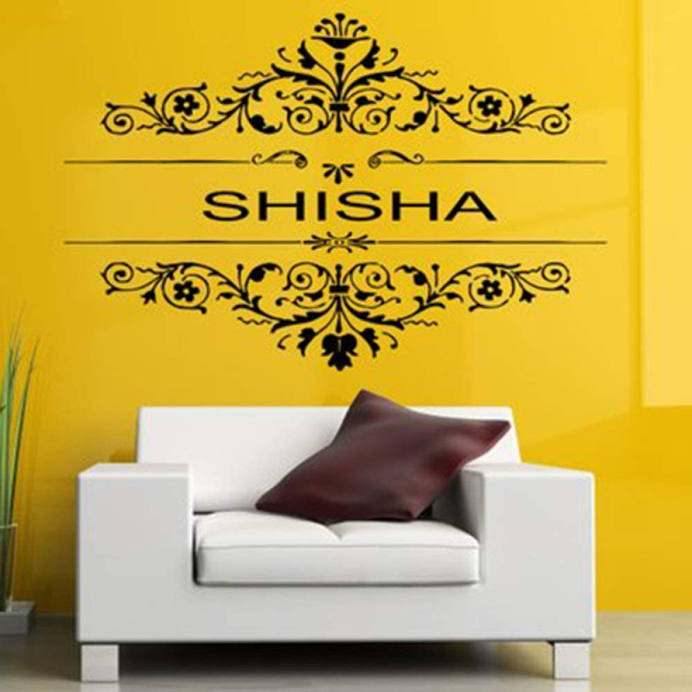 Etiqueta de Vinilo extraíble Mural Decal Wall Decor Poster Art Shisha Hookah Waterpipe House Cafe Smoke Shop Store Outdoor Sign