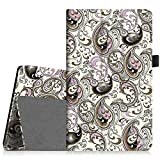 Fintie Samsung Galaxy Tab A 8.0 Folio Case - Slim Fit Premium Vegan Leather Cover for Samsung Tab A 8-Inch Tablet SM-T350 (with Auto Sleep/Wake Feature), Paisley Waves