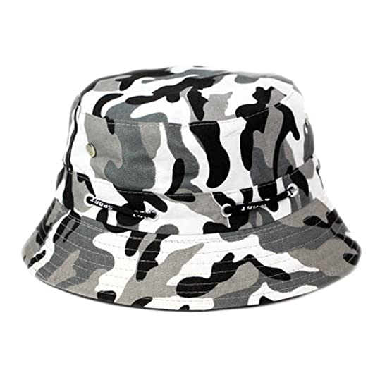 3d8e1bacf Amazon.com: Y-HOT Unisex Camouflage Sun Bucket Hat for Fishing ...