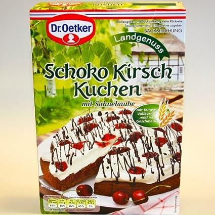 Dr Oetker Dr Oetker Schoko Kirsch Kuchen 345g Amazon De