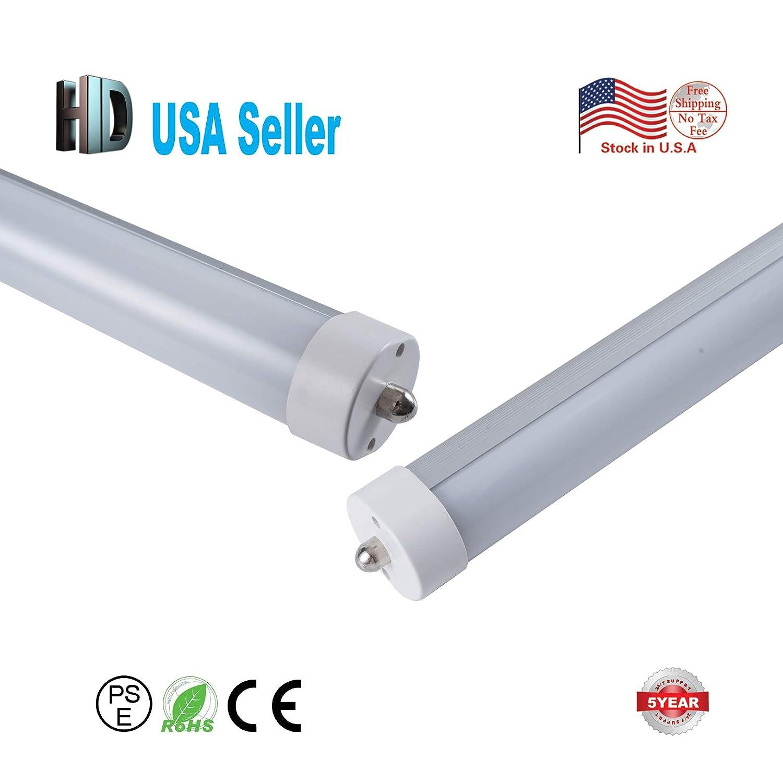 USストック10個/ロットホット販売6 ft 1800 mm 30 W t8 LEDチューブライトwith Single Pin (fa8 ) キャップミルキーカバー6500 Kを交換し蛍光灯ac85 – 265 B077KXH1R2