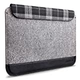 Inateck Ultra Slim 12 Inch New MacBook Case Sleeve Cover with Magnetic Closure for Apple New Macbook 12, A Small Pouch Included, Grey Bild