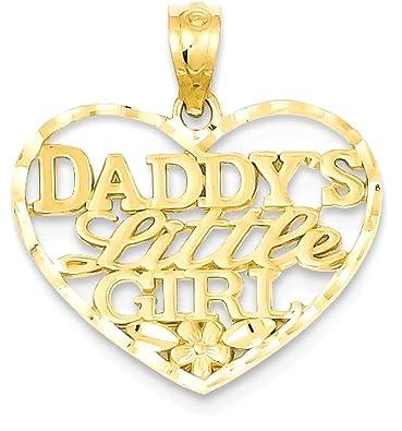 Amazoncom IceCarats 14k Yellow Gold Daddys Little Girl Heart