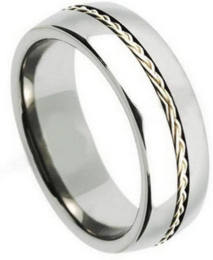 Man or Ladies Cobalt Stepped Down Edge Hammered Center Wedding Band Ring Gifts With Thought Free Engraving 9mm