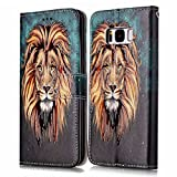 Galaxy S8 Plus Stand Case,Samsung Galaxy S8 Plus Wallet Case,Galaxy S8 Plus Flip Case,SKYMARS Samsung Galaxy S8 Plus 2017 Cover Gloss Skin 3D Creative Design PU Leather Flip Kickstand Cards Slot Wallet Magnet Stand Fit Case for Samsung Galaxy S8 Plus£¨2017£© Yellow Lion