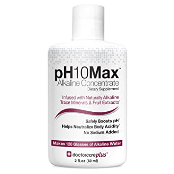 Amazon Com Ph10max Alkaline Water Drops 2 Oz Infused With Natural