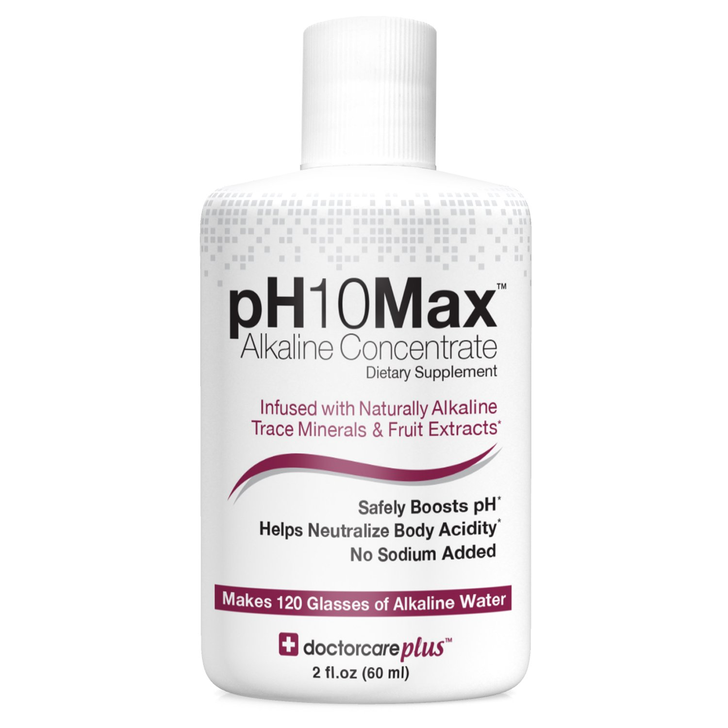 pH10Max Alkaline Water Drops | Infused with Natural Alkaline Trace Minerals & Fruit Extracts | Electrolyte pH Booster | Helps Neutralize Acidity (Watermelon Lime)