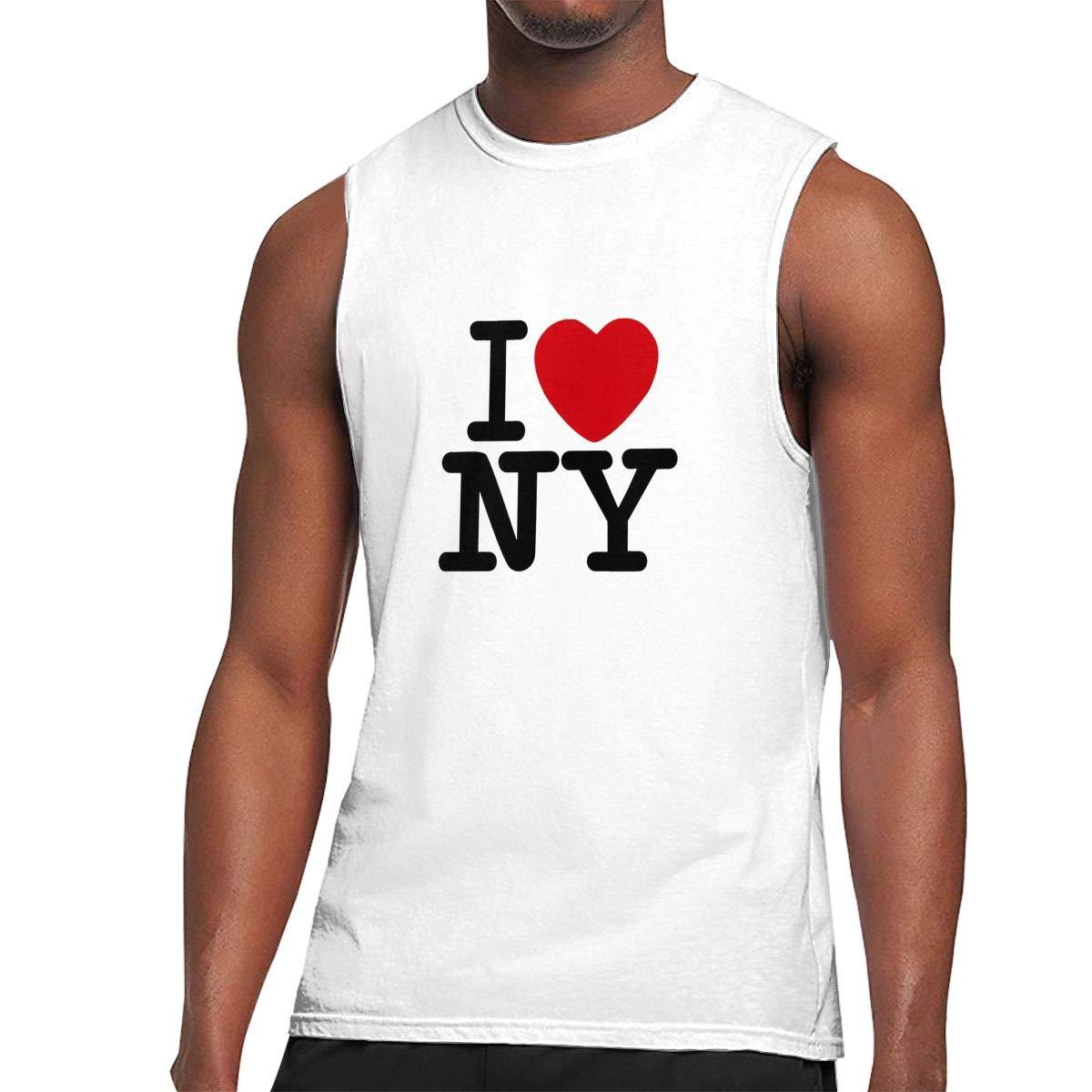 Love Ny New York S Leisure Sleeveless Classical Help Shirts