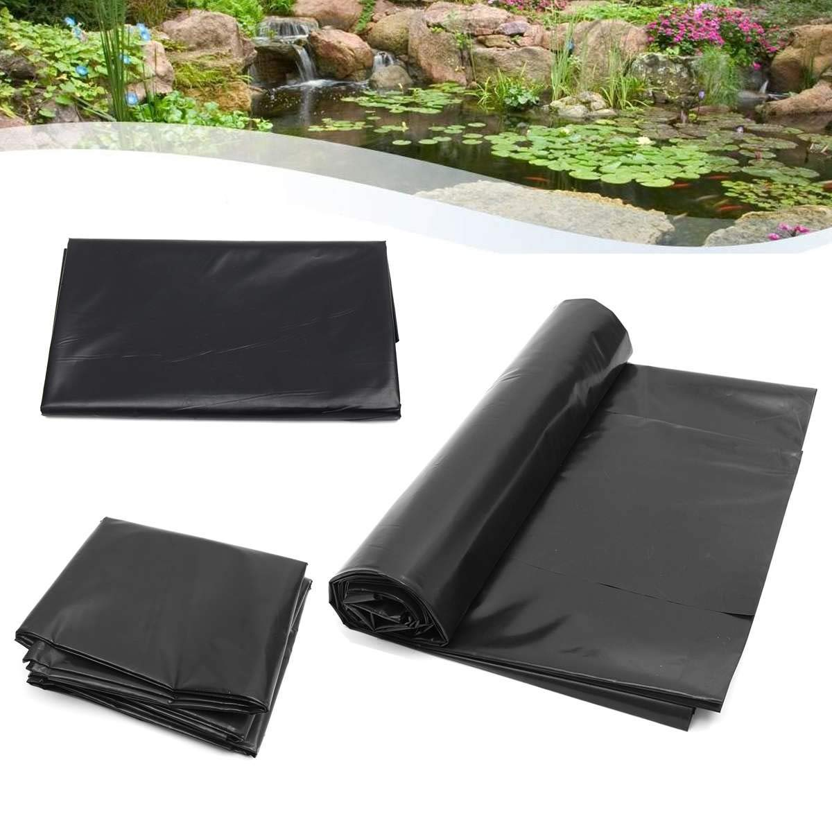 5'x10' HDPE Pond Liner Heavy Landscaping Garden Pool Reinforced Waterproof Pool Liners Cloth Fish Breed Pond Liner Membrane by HOMEFUL STORE