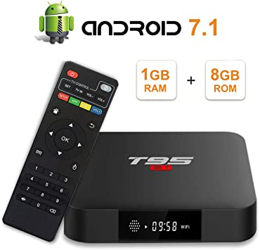 Android 7.1 TV Box T95 S1 1GB+8GB with Amlogic S905W Quad-core 3D//4K//HD//H.265