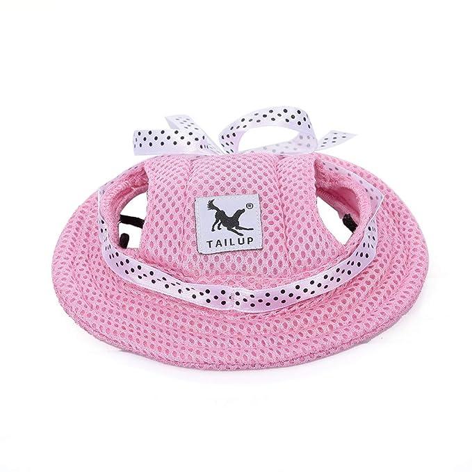 Walmeck- Sombrero Redondo de ala para Perro Sombrero de Mascota ...