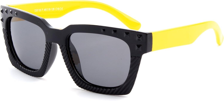 ET18 GQUEEN Gafas de sol polarizadas flexibles de goma para ni/ños y infantes de 3-7 a/ños de Edad