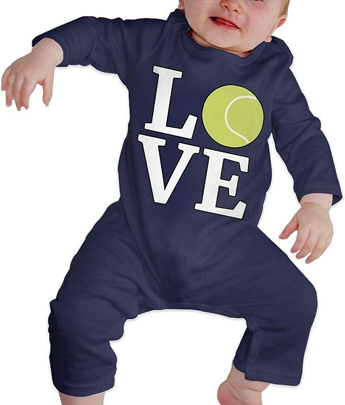 Amazon.com: Bebé niño niña impreso amor tenis pelota traje ...