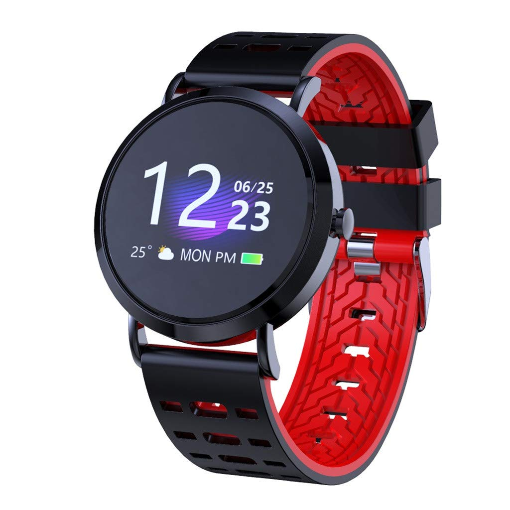 WELCOMEUNI Blood Pressure Heart Rate Sleep Monitoring Sport Smart Watch Bracelet Fitness Activity Tracking Sleep Monitoring