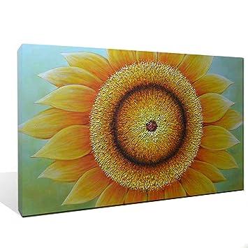 Amazon.com: Asdam Art -(100% handmade 3D) Sunflowers Oil Paintings ...