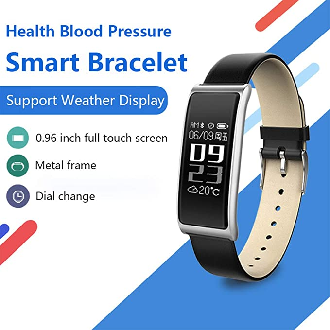 Amazon.com: BSJZ Pulsera De Fitness C9s Monitor De Presión Arterial Reloj Monitor De Frecuencia Cardíaca Rastreador De Fitness Impermeable para iOS Pulsera ...