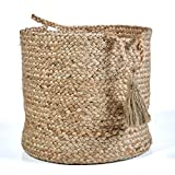 LR Home Montego Decorative Storage Basket, 17'' High, Natural Jute