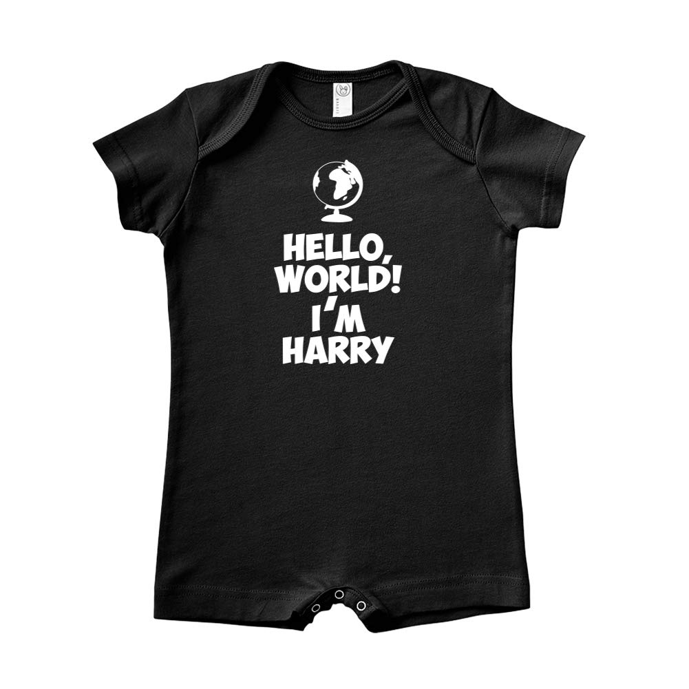 Mashed Clothing Hello World Im Harry Personalized Name Baby Romper