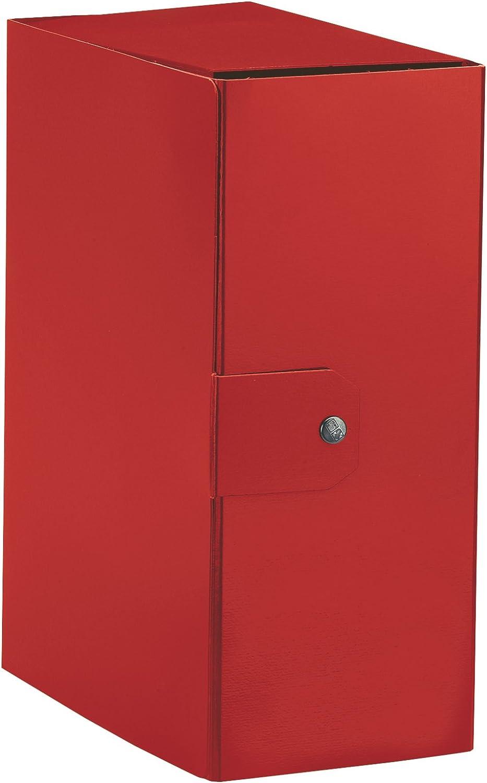 Esselte 390395160- Carpeta de caja para el almacenamiento de documentos a largo mucho, A4, cierre de botón, lomo 15 cm (comprimido brillante, rojo), 1 unidad: Amazon.es: Oficina y papelería