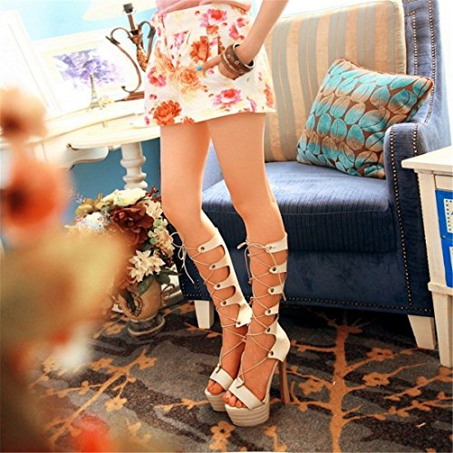 of Spring RFF Cool autumn Beige Cross and Large Numbers high shoes Water Straps Summer Boots summer BvwBqUrdS