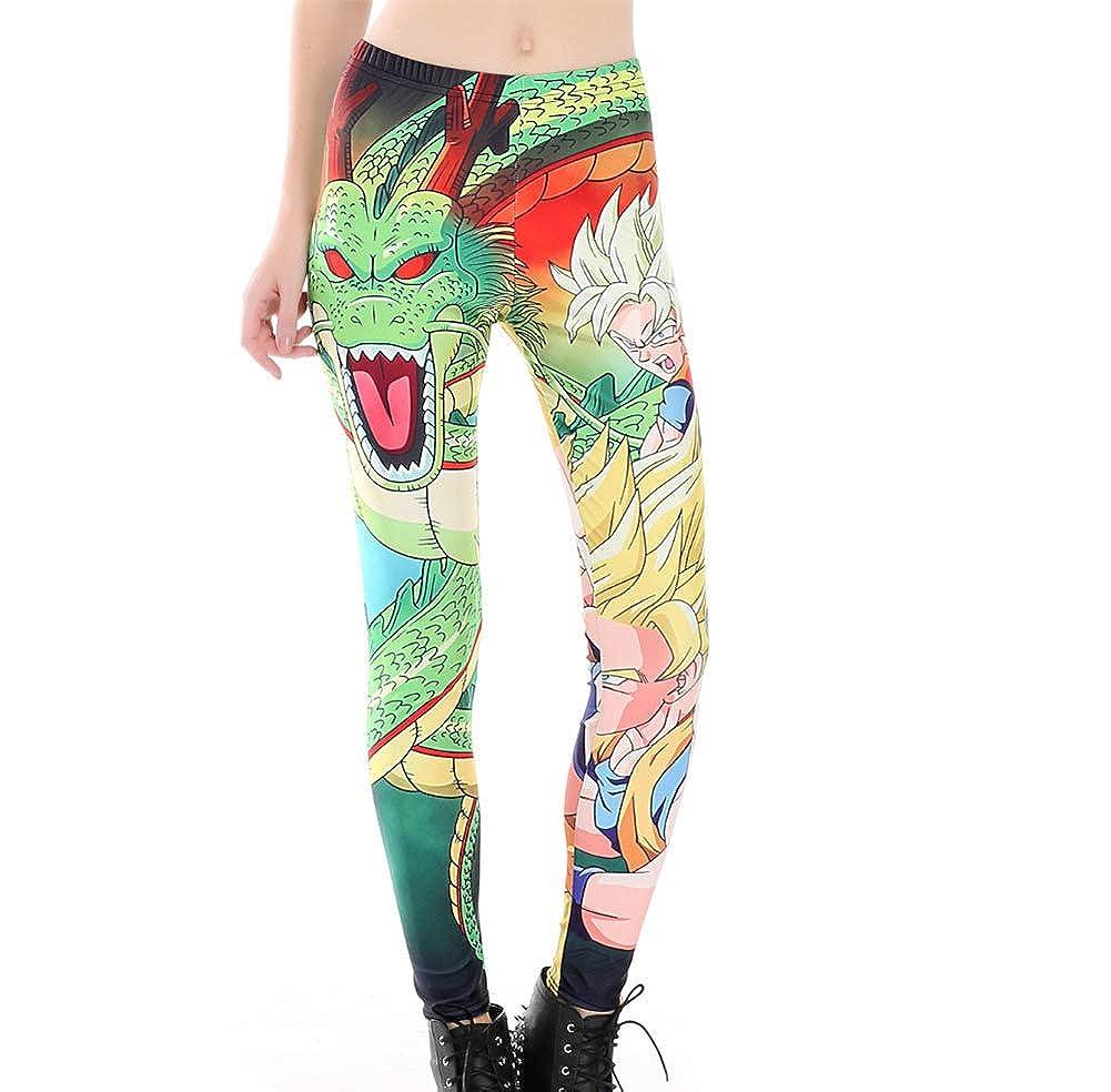 Yunhine Women Costume Dragon Ball Z Leggings Elastic Stretchy Pants