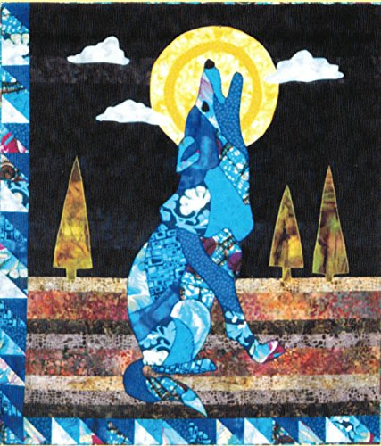 La Luna Lobo Wolf Fusible Applique Quilt 28 inch by 32 inch Wall Hanging Pattern (Barbara Jones Quilt Patterns compare prices)