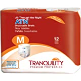 Tranquility ATN™ (All-Through-the-Night) Adult Disposable Briefs - MD - 12 ct
