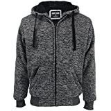 Gary Com Marled Heavyweight Sherpa Lined Fleece Hoodies for Men Full Zip Plus Size Big and Tall Sweatshirts Jackets